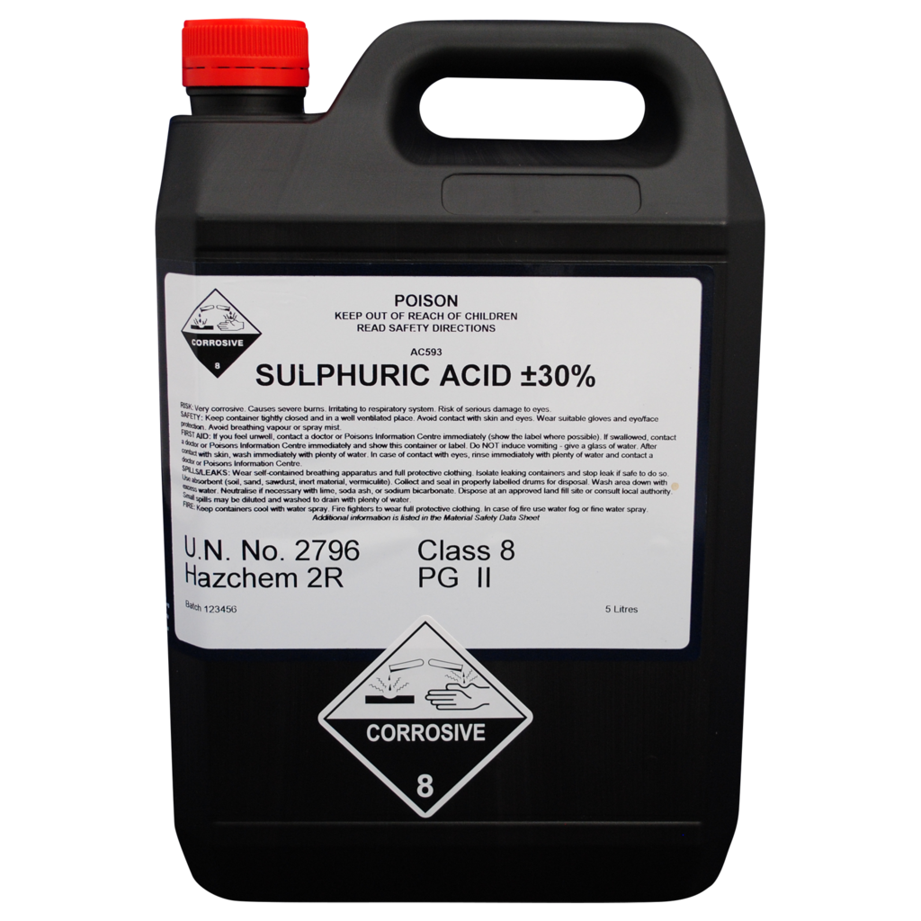 You may need a license to use sulphuric acid